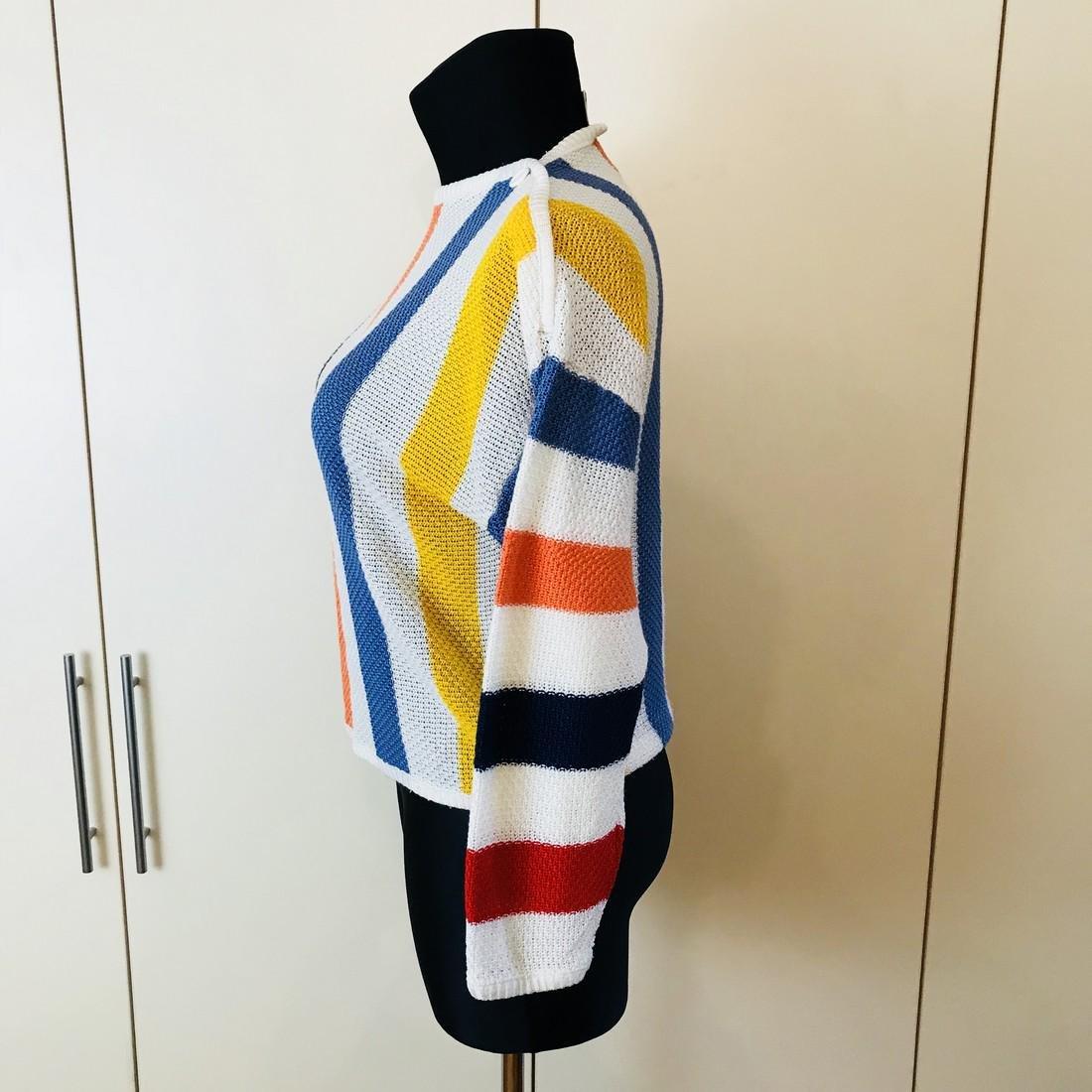 Vintage Women's MOSAIK Crochet Sweater Size EUR 40 US - 4