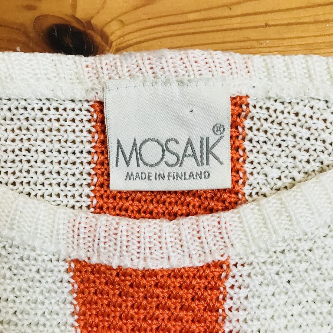 Vintage Women's MOSAIK Crochet Sweater Size EUR 40 US - 6