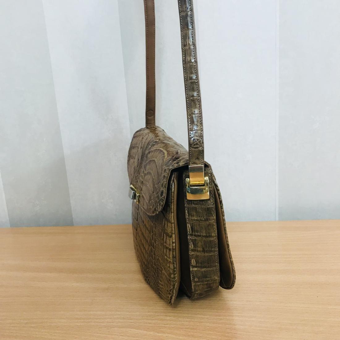 Vintage Genuine Crocodile Leather Shoulder Bag - 4