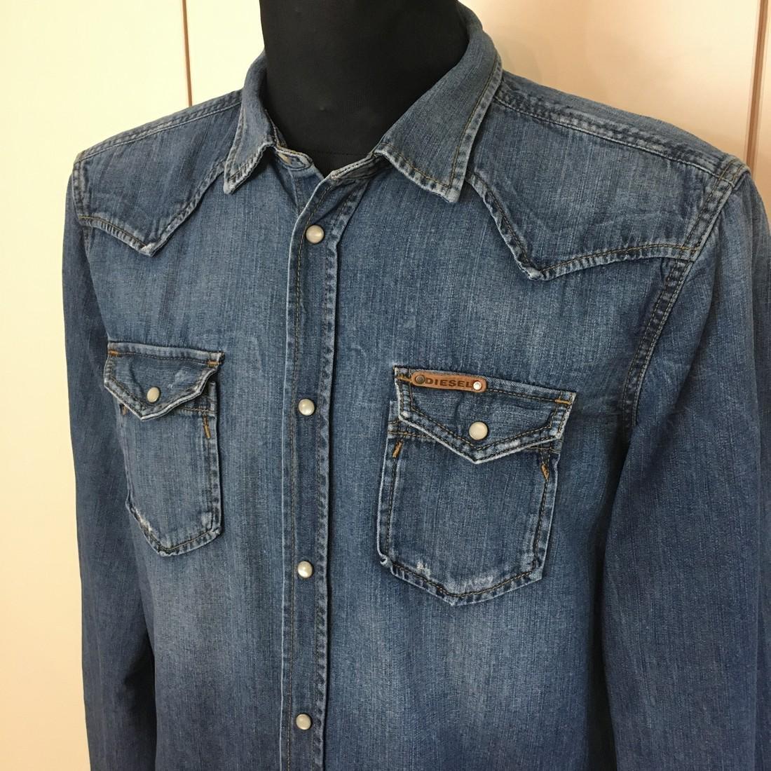 Men's Diesel Slim Fit Denim Shirt Size XL - 2