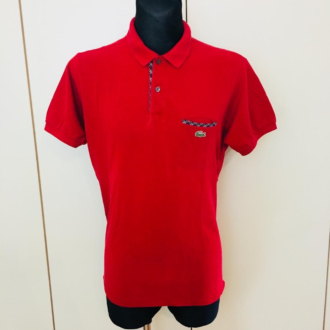 Men's Lacoste Red Polo Shirt Size 5 / L