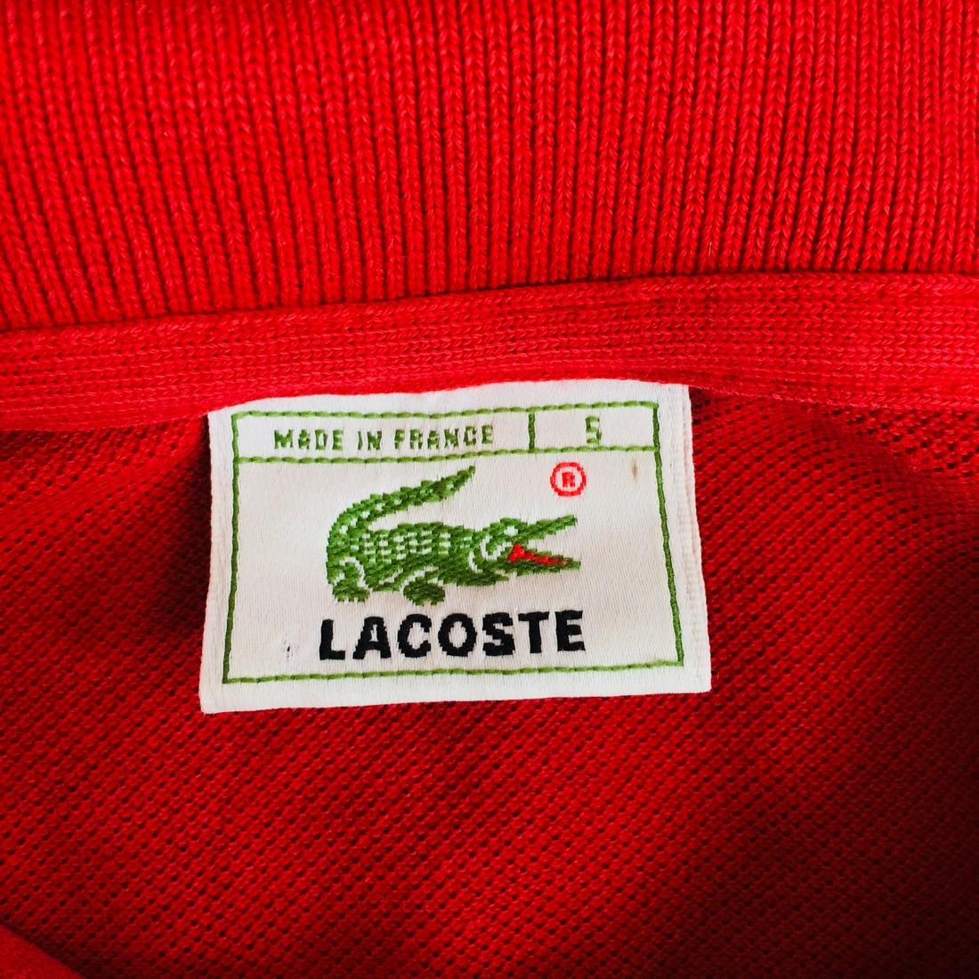 Men's Lacoste Red Polo Shirt Size 5 / L - 4