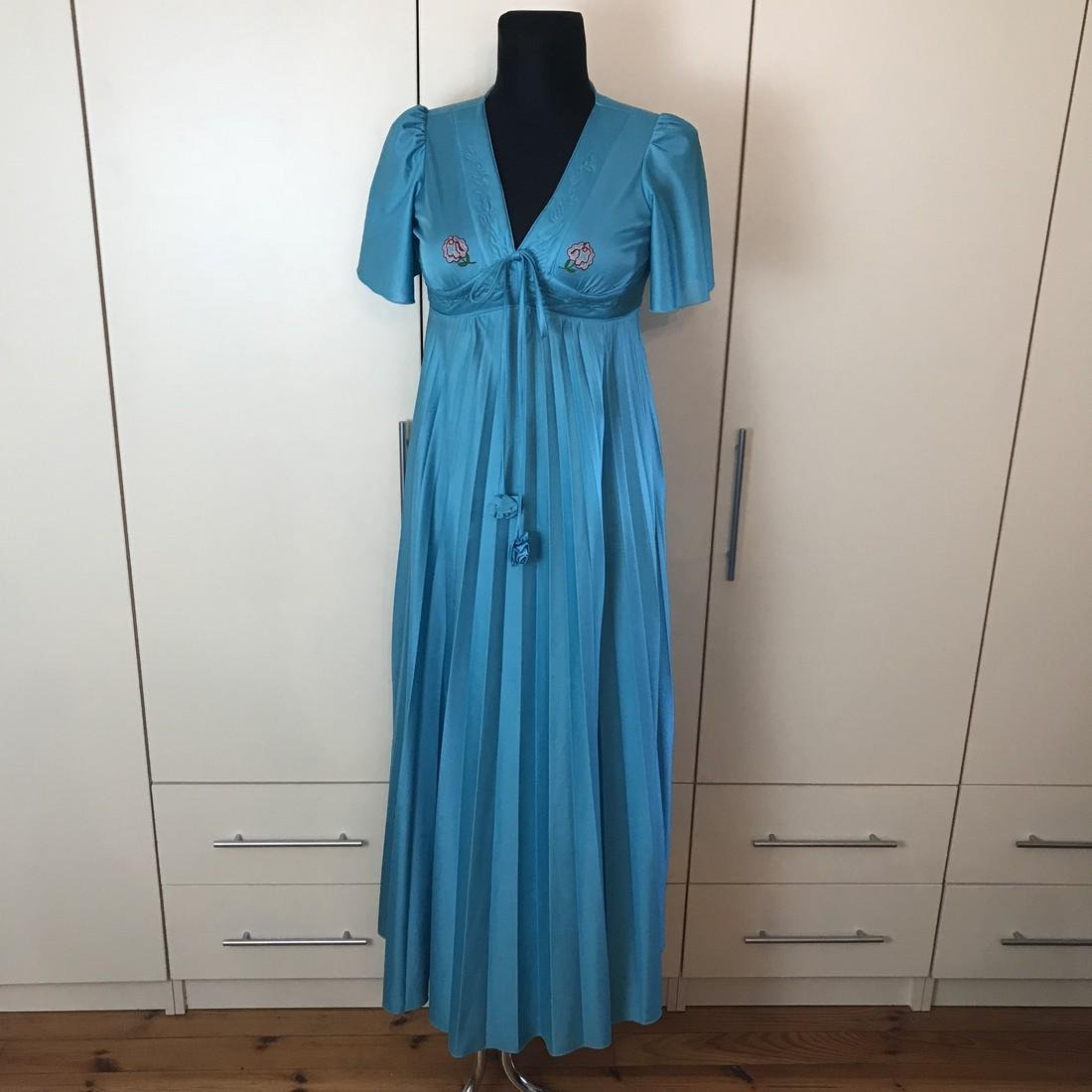 Impressions De Paris Blue Vintage Designer Dress Size