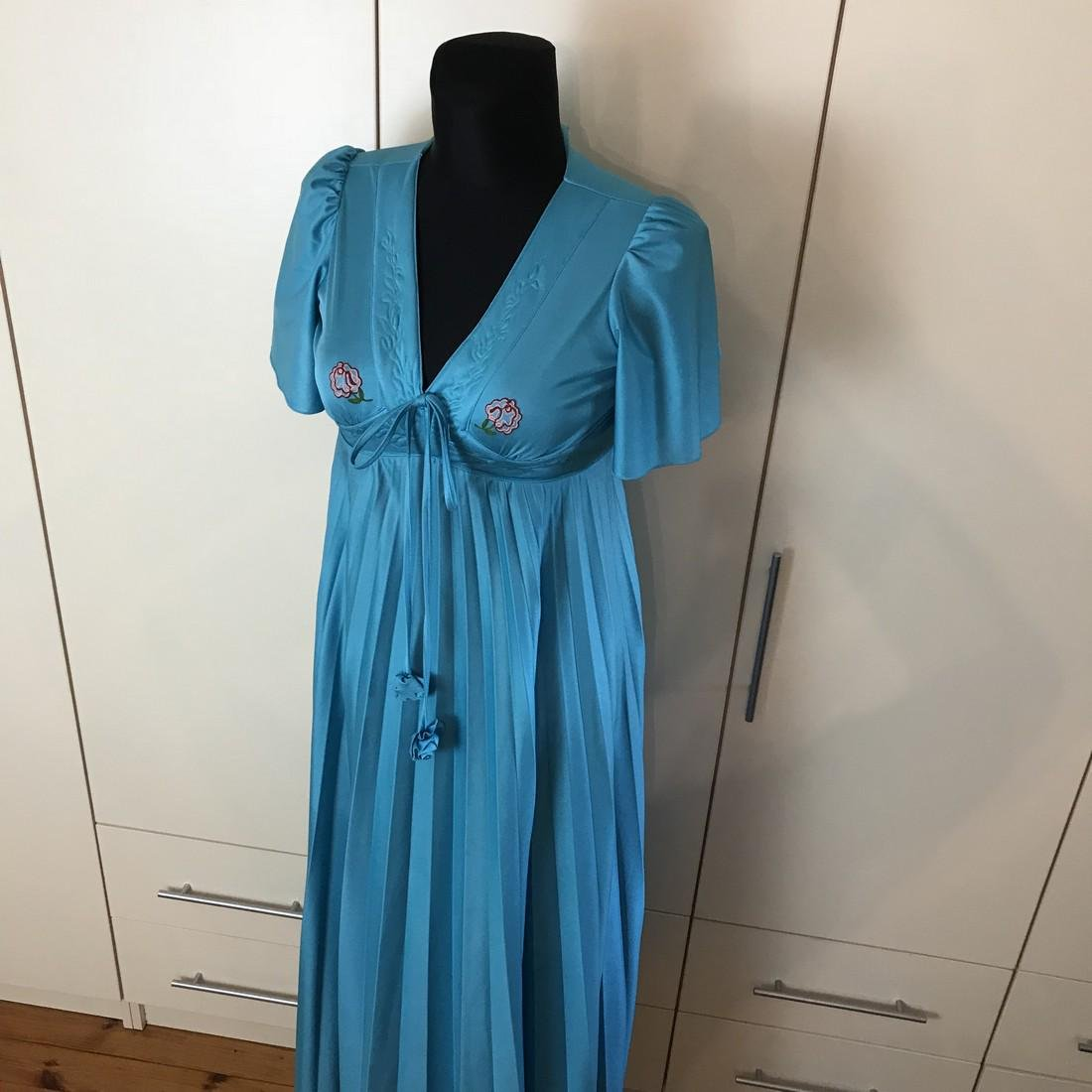 Impressions De Paris Blue Vintage Designer Dress Size - 2