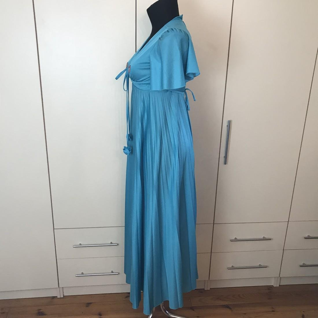 Impressions De Paris Blue Vintage Designer Dress Size - 5