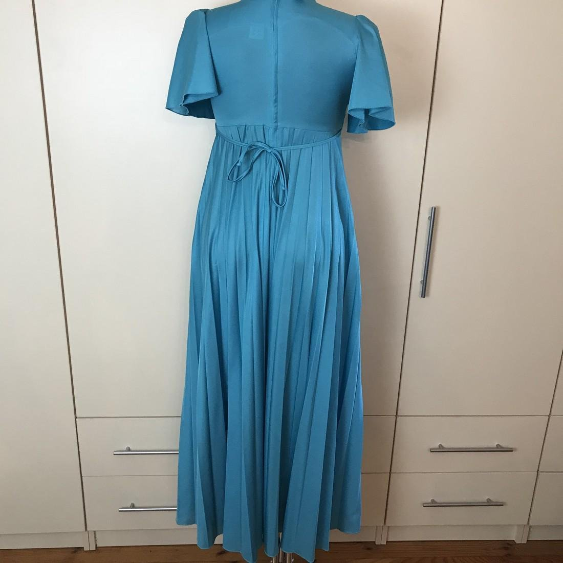 Impressions De Paris Blue Vintage Designer Dress Size - 6