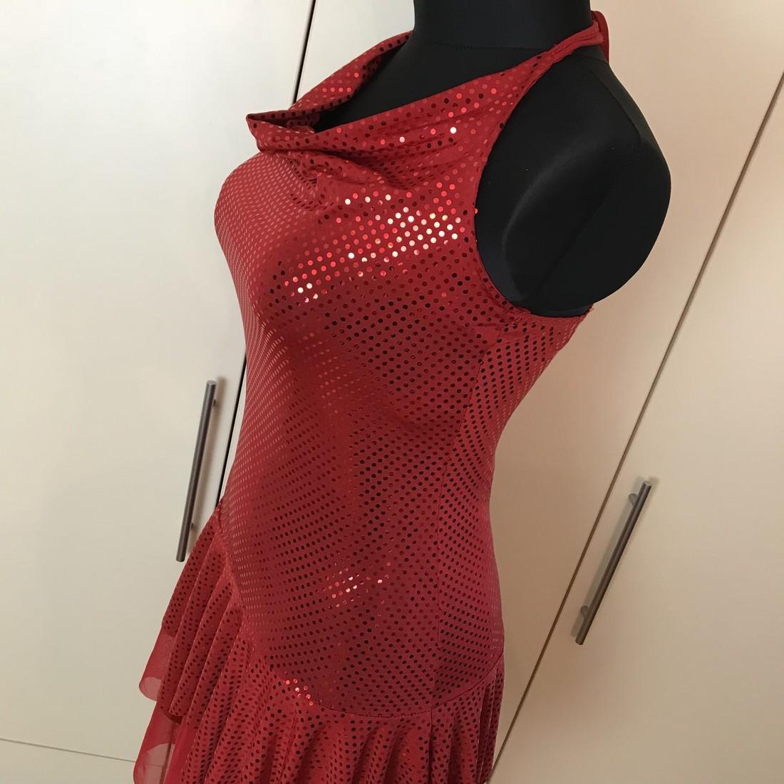 Red Disco Dancer Style Vintage French Designer Dress - 3