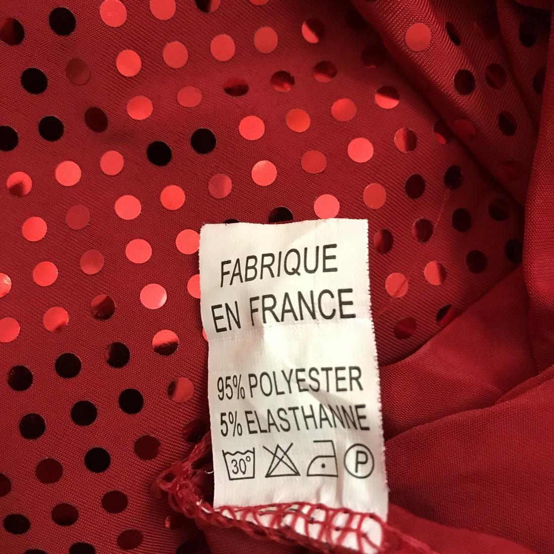 Red Disco Dancer Style Vintage French Designer Dress - 6