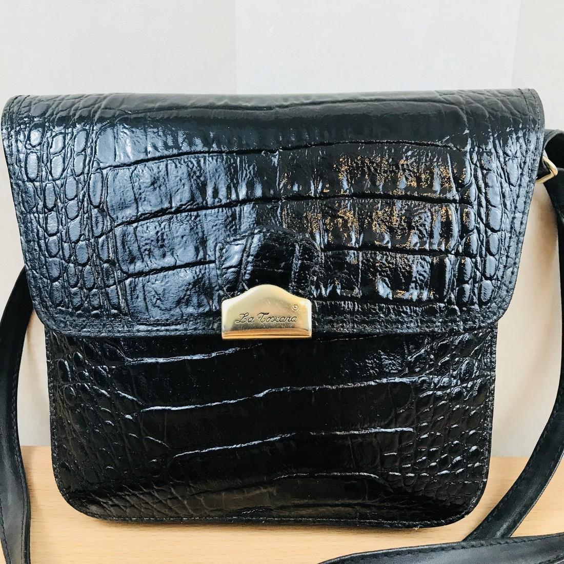 Vintage Handmade Alligator Leather Immitation Small - 2