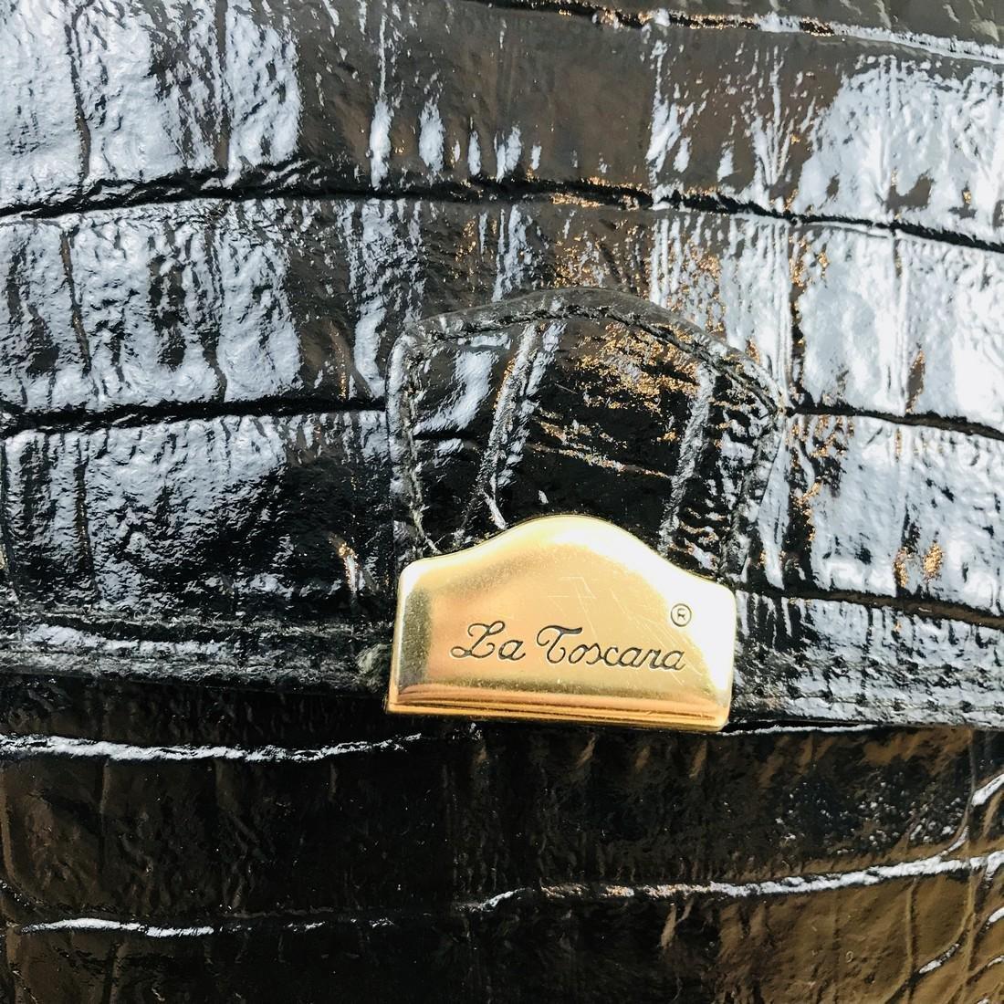 Vintage Handmade Alligator Leather Immitation Small - 3