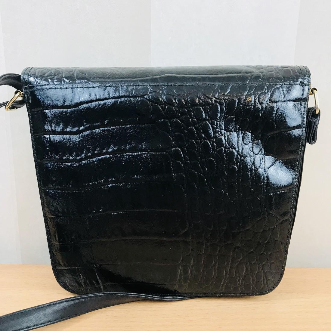 Vintage Handmade Alligator Leather Immitation Small - 4