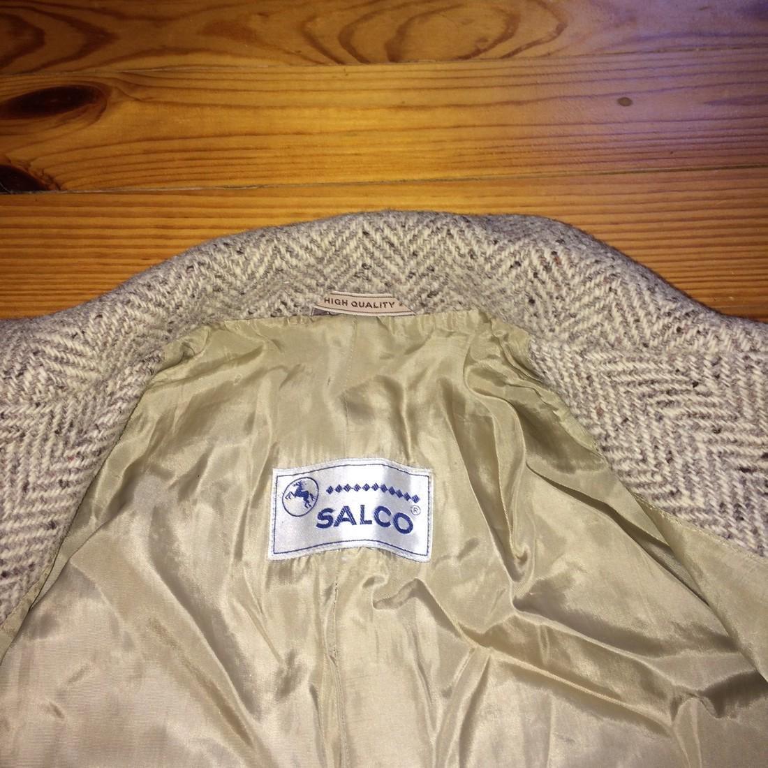 Women's Salco Pure New Wool Jacket Coat Size XL - 10