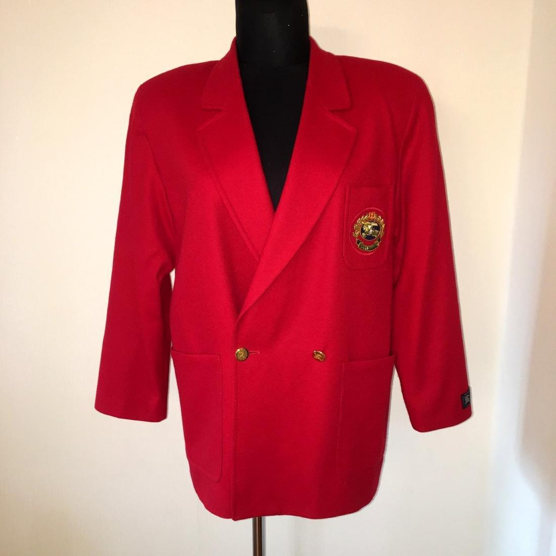 Women's Burberry Vintage 100% Wool Red Jacket Blazer