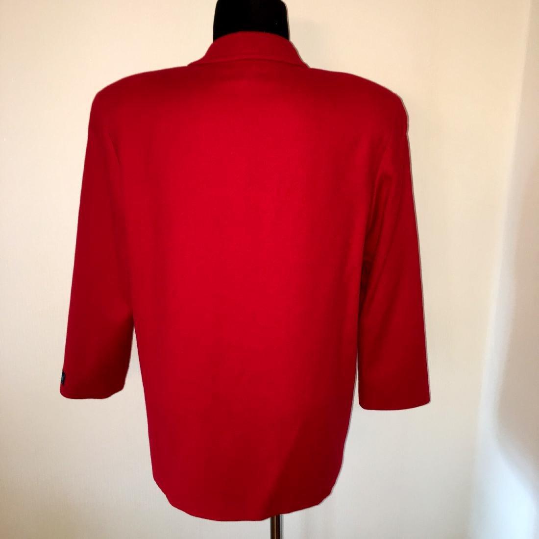 Women's Burberry Vintage 100% Wool Red Jacket Blazer - 6