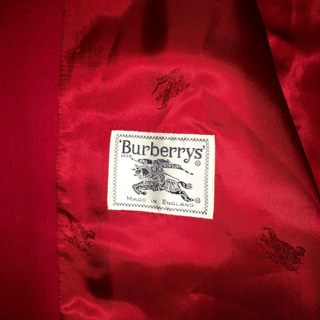 Women's Burberry Vintage 100% Wool Red Jacket Blazer - 8
