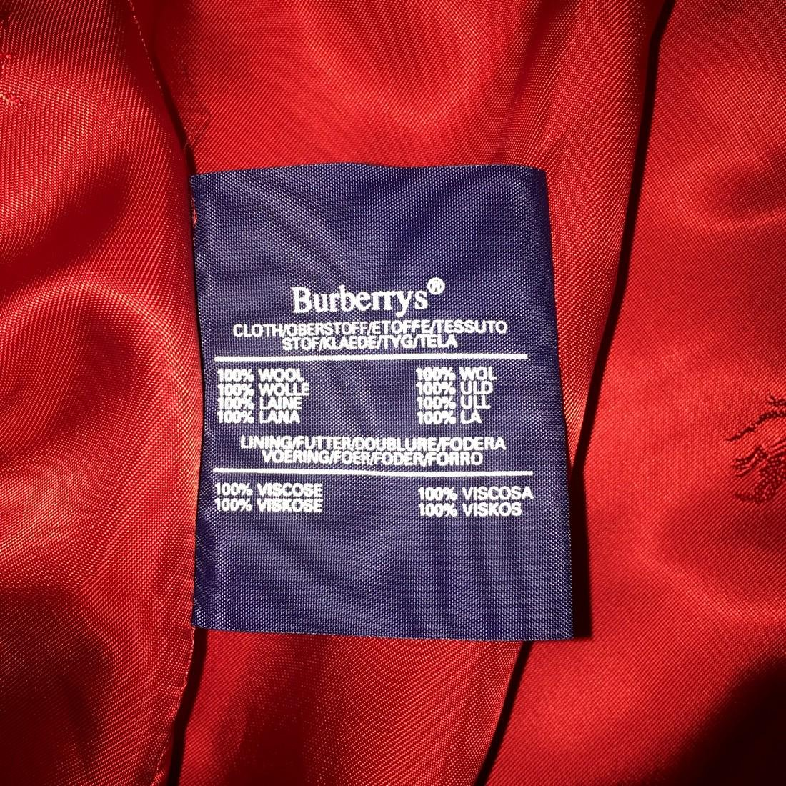 Women's Burberry Vintage 100% Wool Red Jacket Blazer - 9