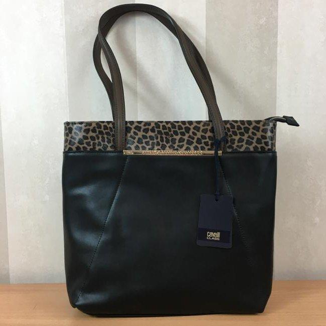 Roberto Cavalli CLASS Eco Leather Shoulder Bag