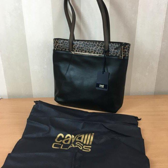Roberto Cavalli CLASS Eco Leather Shoulder Bag - 7