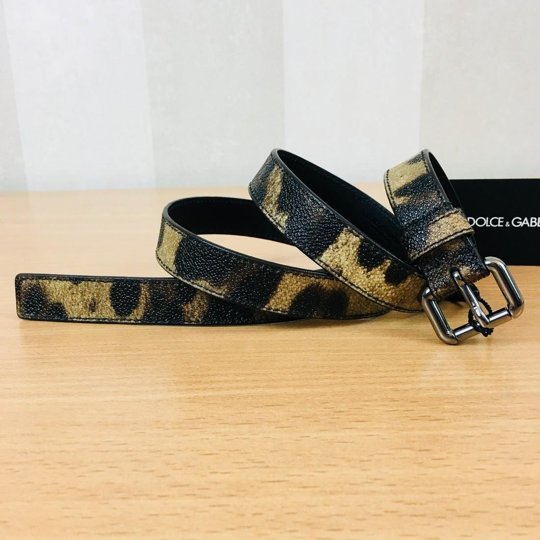 Women's Dolce & Gabbana Leopard Print Belt