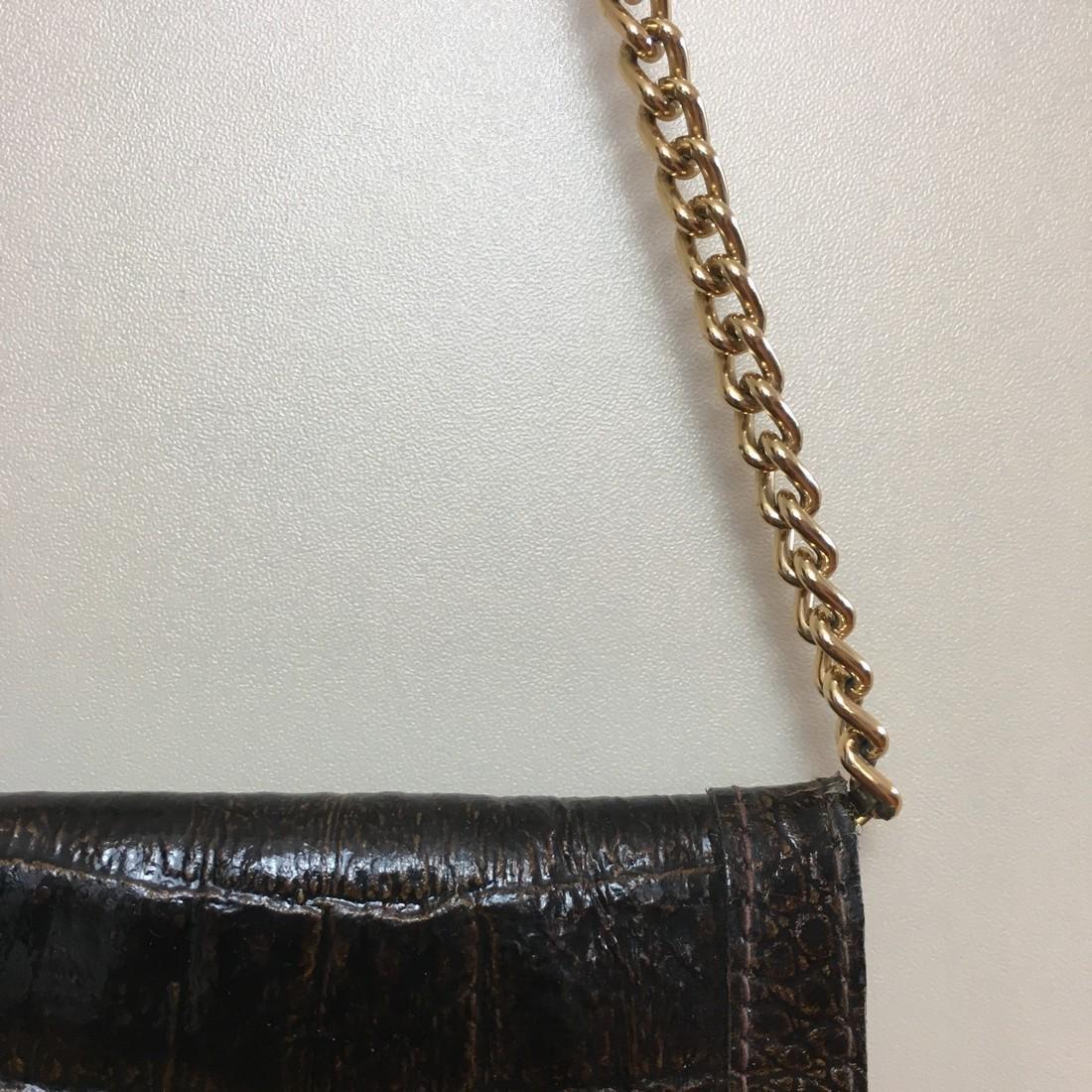 Vintage Real Alligator Leather Clutch Bag - 4