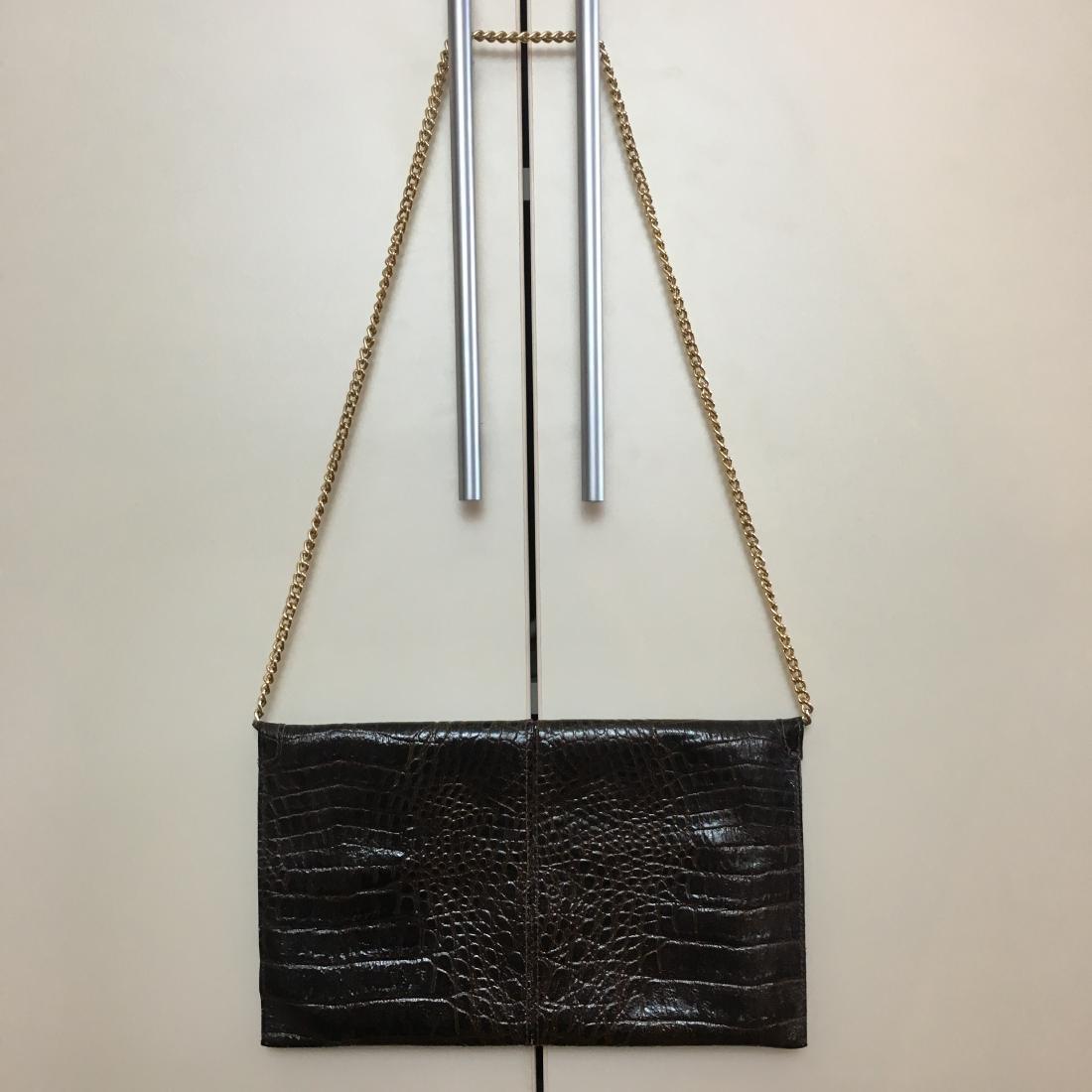 Vintage Real Alligator Leather Clutch Bag - 5