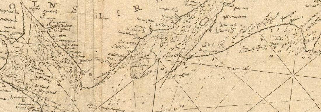 ENGLAND EAST COAST Sea 'chart for the Newcastle Trade'. - 2