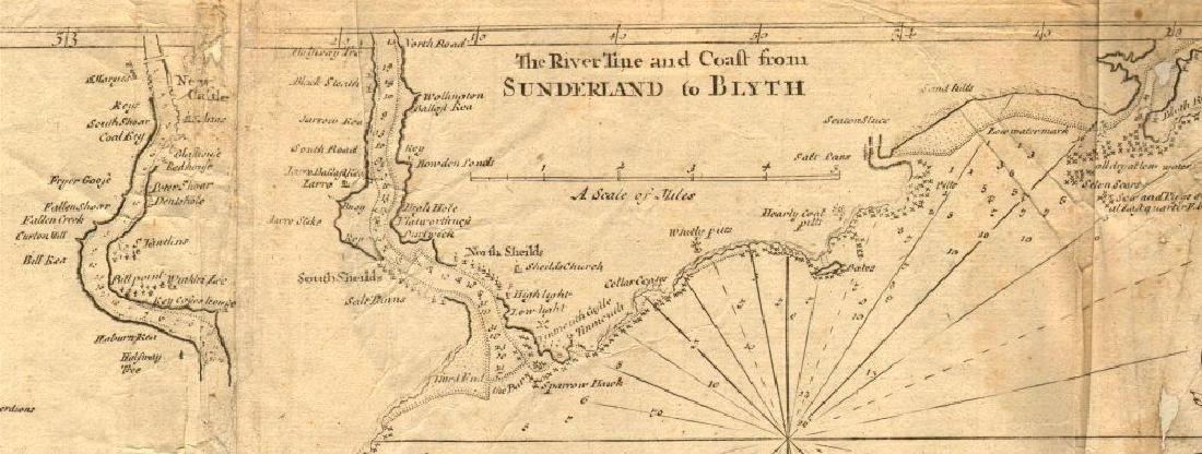 ENGLAND EAST COAST Sea 'chart for the Newcastle Trade'. - 3
