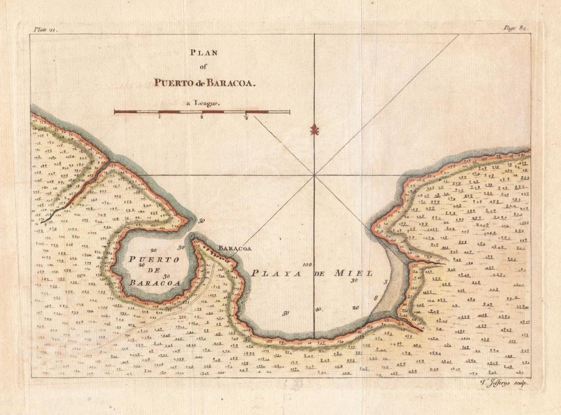 Jefferys: Plan of Puerto Baracoa, Cuba