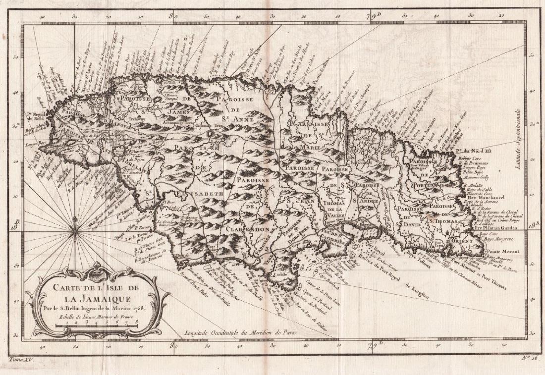 Bellin: Jamaica Divided into Parishes