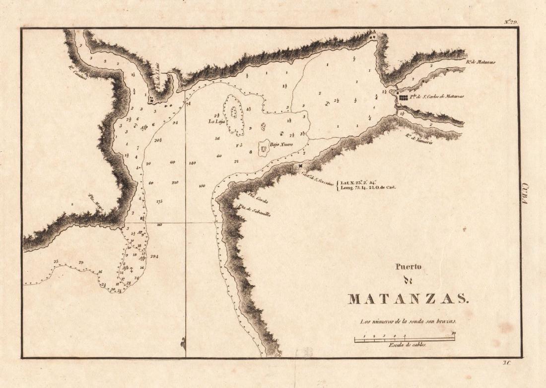 Spanish Admiralty: Port of Matanzas, Cuba