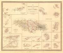 BRITISH WEST INDIES ISLANDS. Jamaica Antilles Virgin