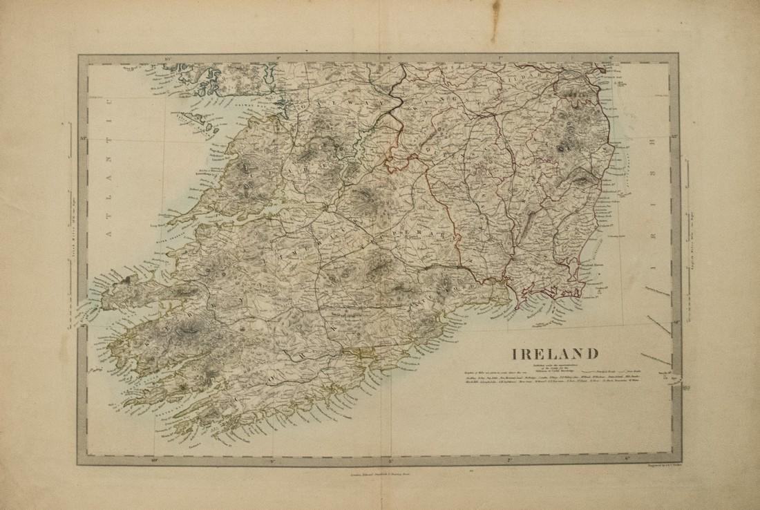 1838 SDUK Map of Southern Ireland -- Ireland