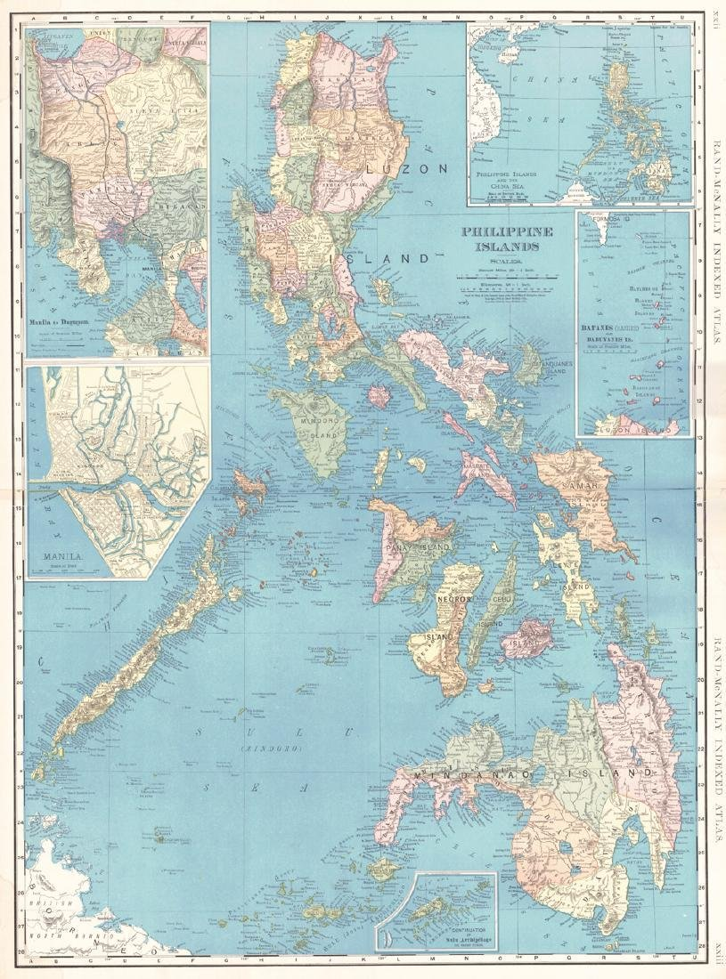 Rand-McNally Indexed Atlas. Philippine Islands