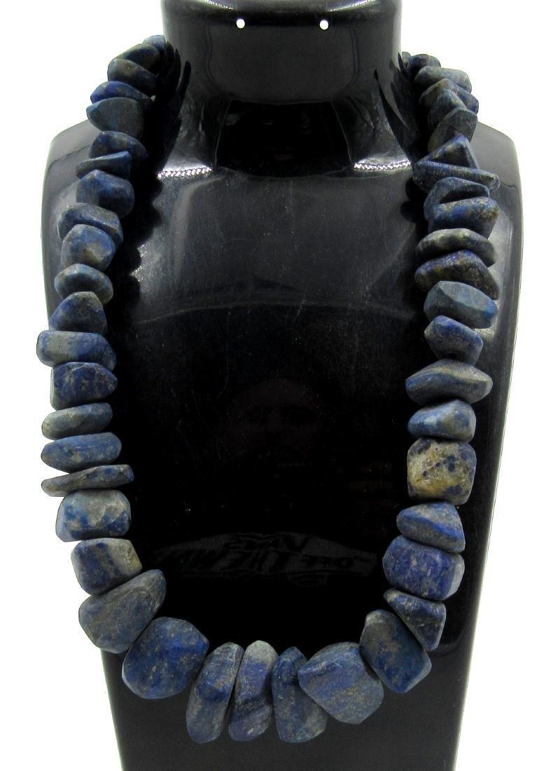 Ancient Bactrian Lapis Lazuli Beaded Necklace