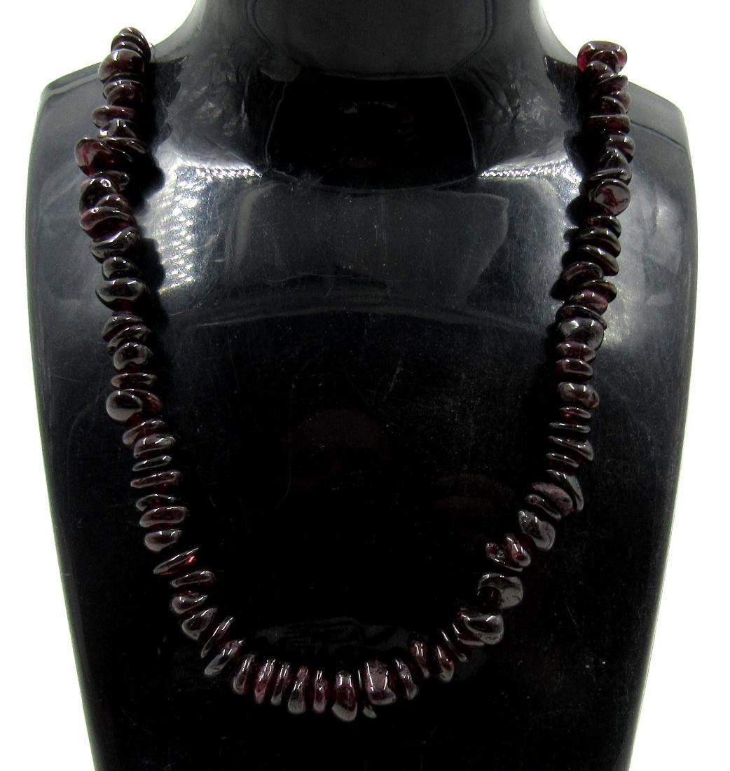 Ancient Roman Dark Stone Glass Beaded Necklace