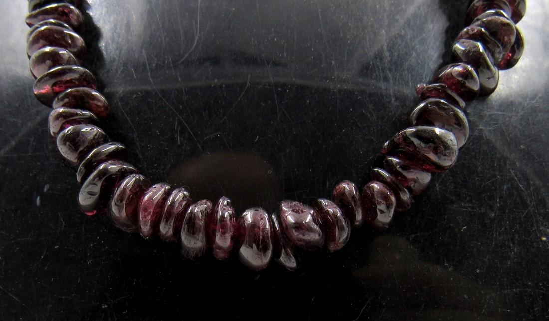 Ancient Roman Dark Stone Glass Beaded Necklace - 2