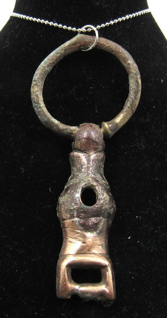 Ancient Roman Bronze Phallus Pendant