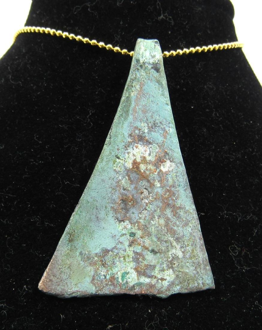 Medieval Viking Era Bronze Axe Pendant