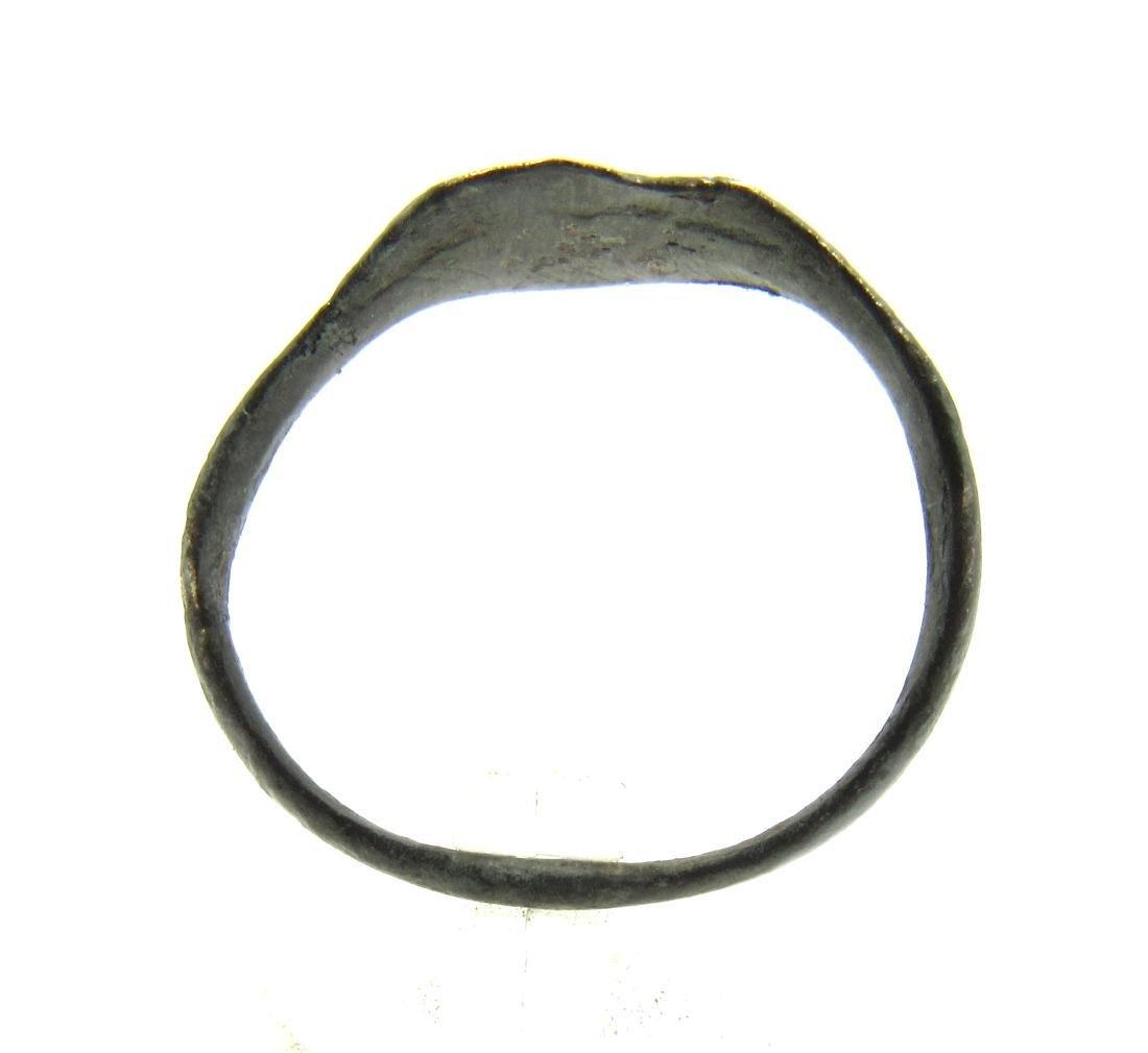 Medieval Viking Era Bronze Runic Ring - 3