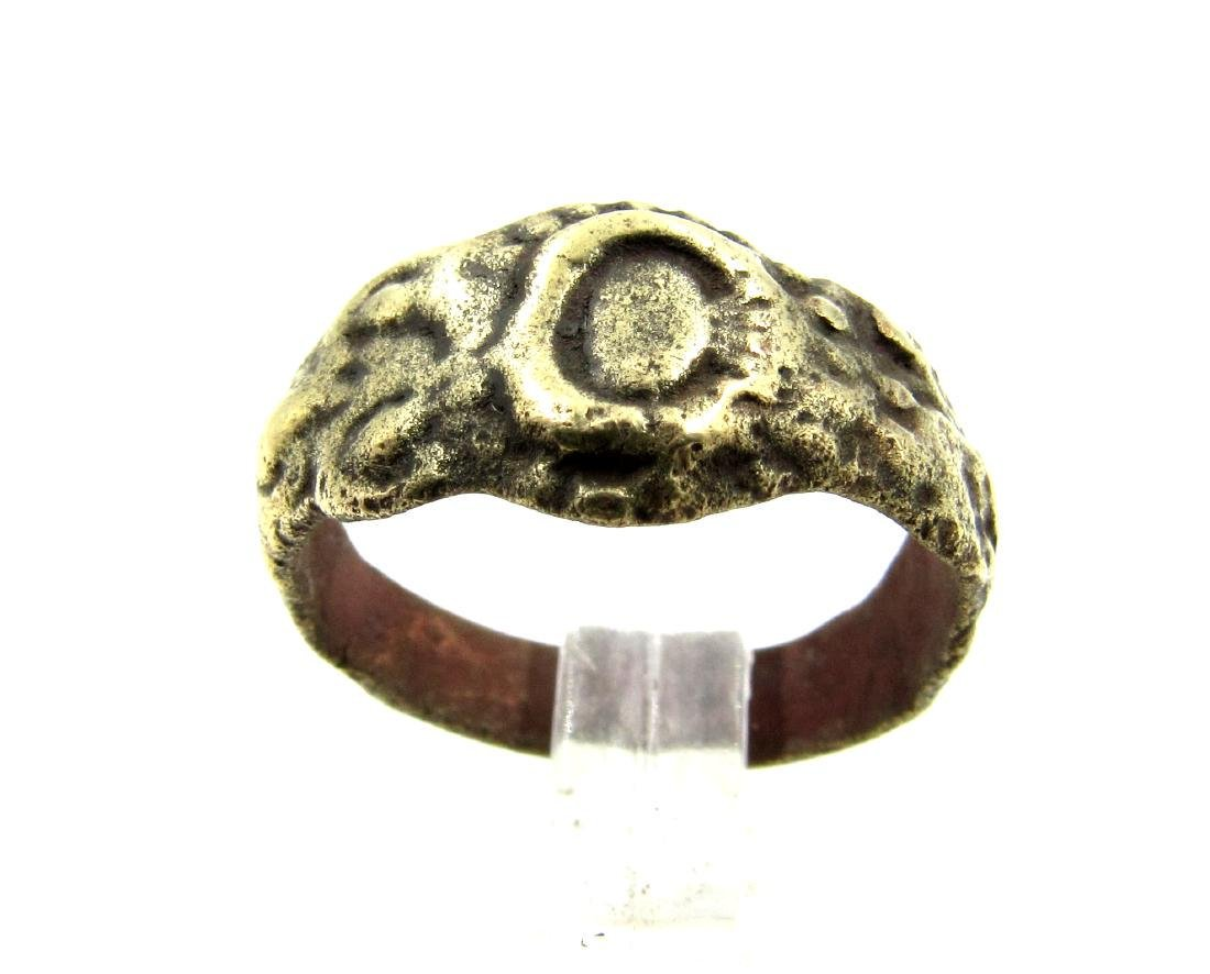 Late Medieval Tudor Era Bronze Floral Ring