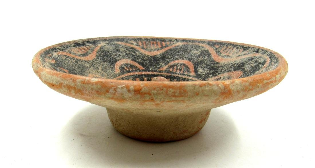 Ancient Indus Valley Terracotta Bowl with Snake Motif - 2