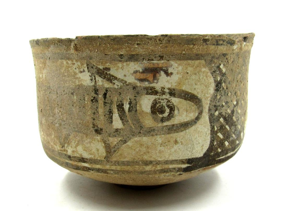 Ancient Indus Valley Terracotta Bowl with Fish Motif