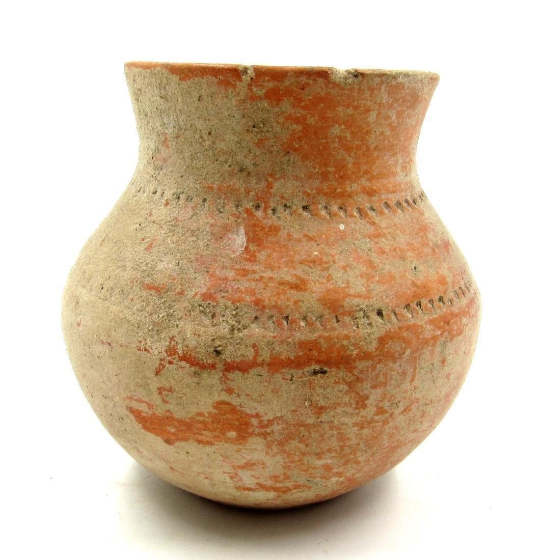 Ancient Roman Legionary Terracotta Decorated Jar