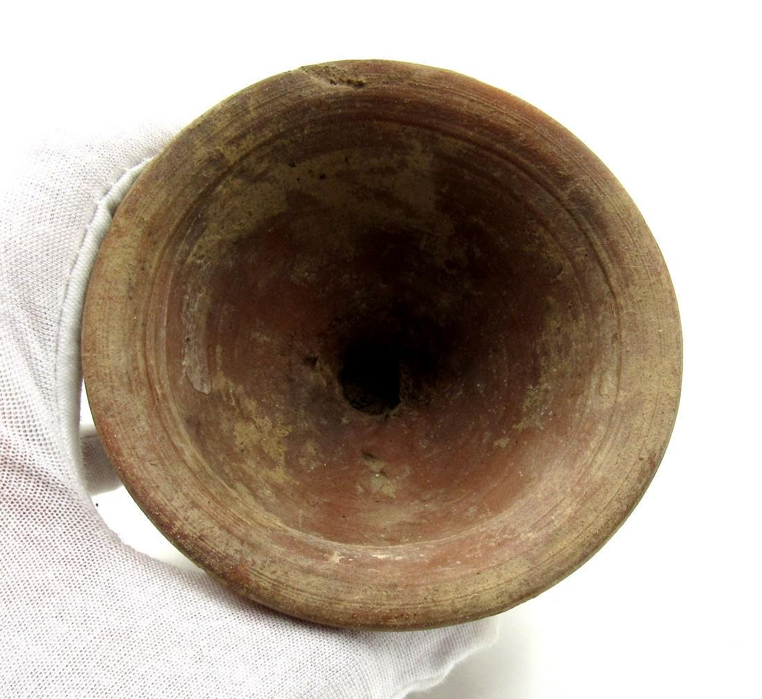Ancient Roman Legionary Terracotta Chalice Cup - 2