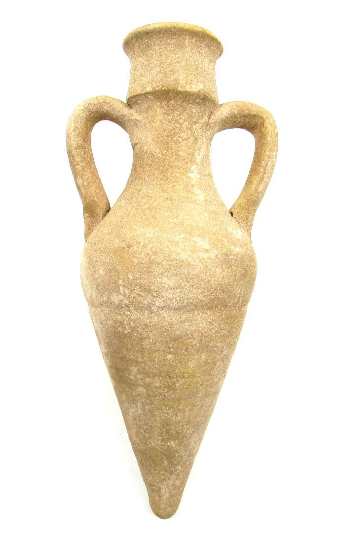 Large Ancient Roman Terracotta Wine Amphora with Two - 2
