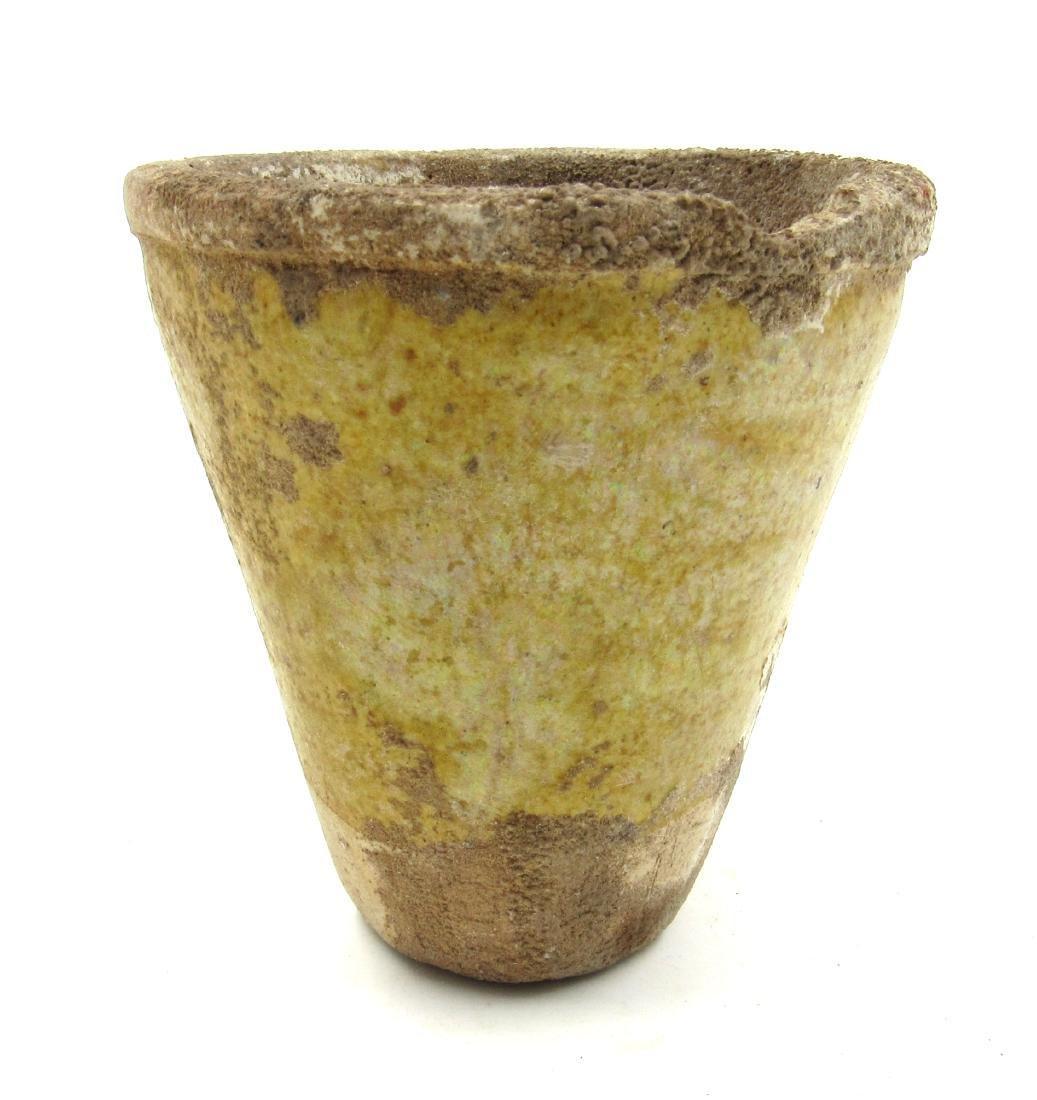 Ancient Roman Glazed Terracotta Cup