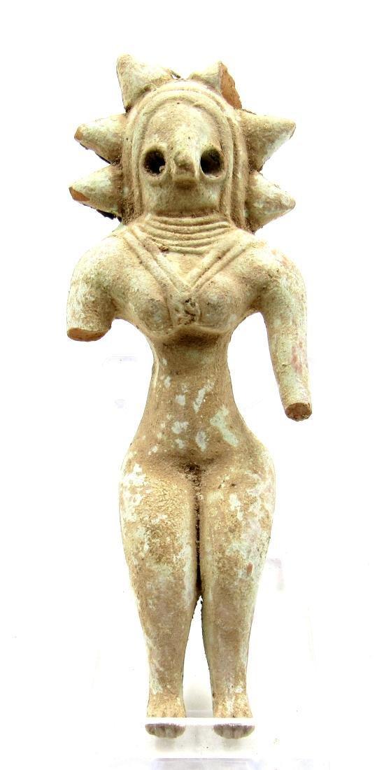 Ancient Indus Valley Terracotta Female Fertility Idol