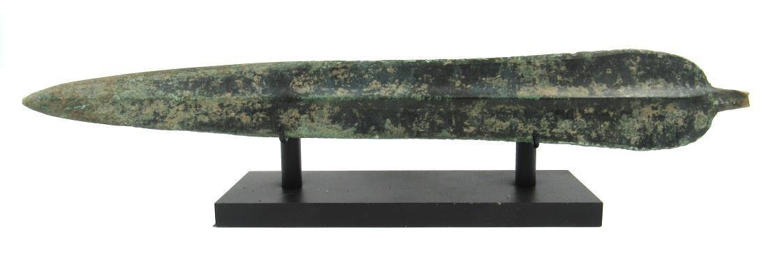 Ancient Greek Bronze Sword on Stand