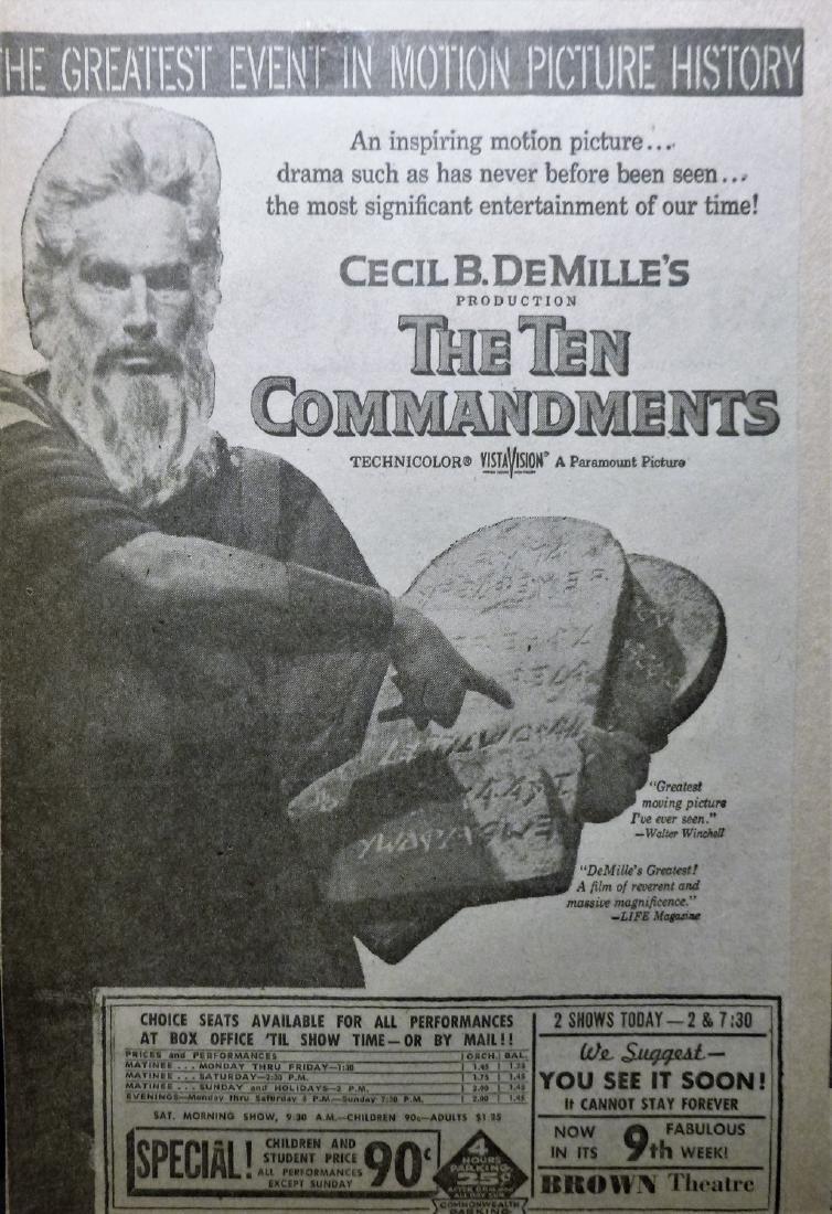 Cecil B. DeMille's The Ten Commandments 1957