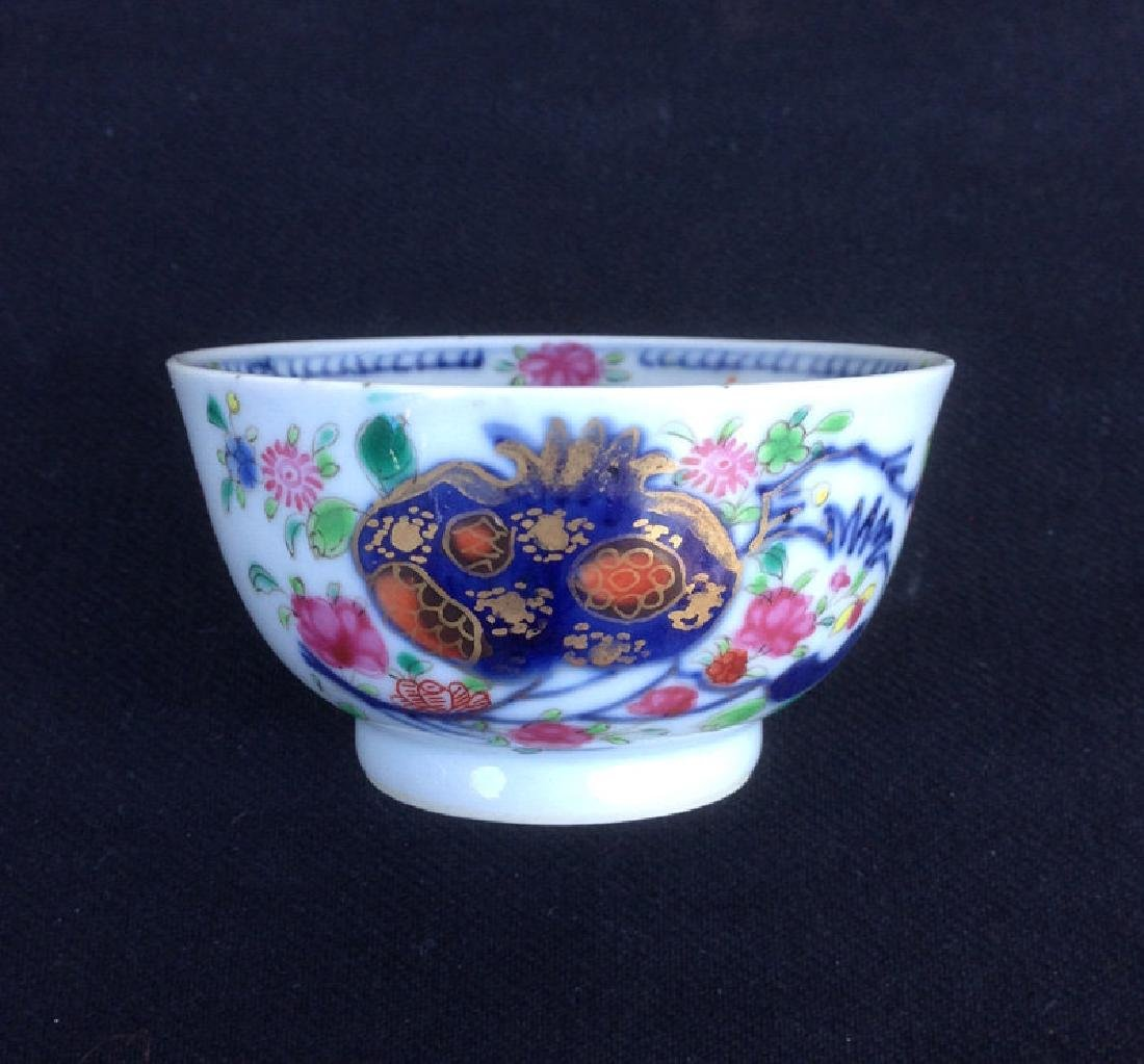 Pomegranate Famille rose cup and saucer, Qianlong - 3